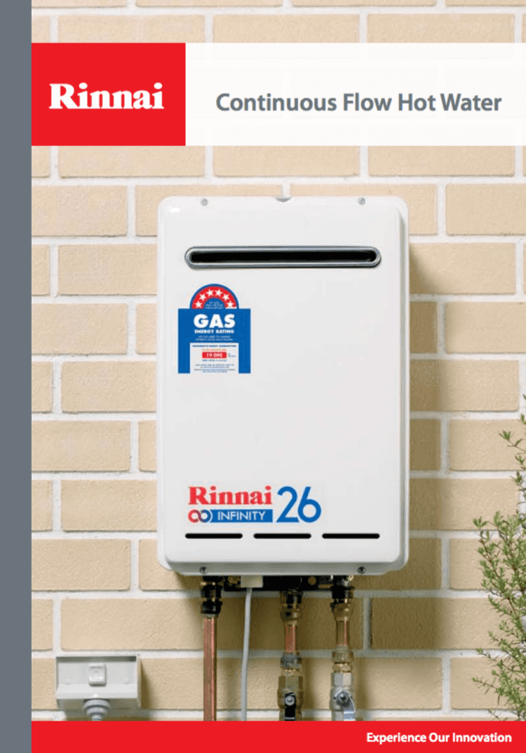Rinnai Continuous Flow Hot Water