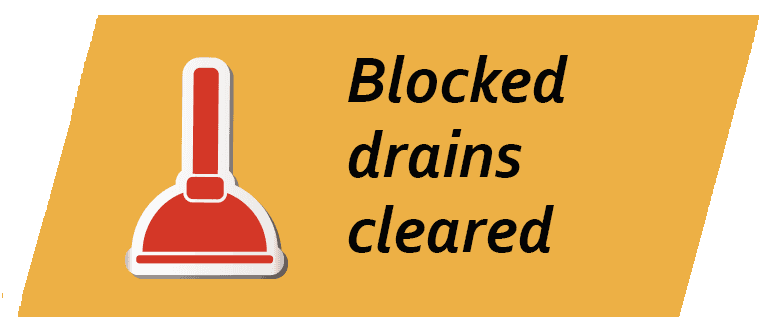 Blocked drains cleared